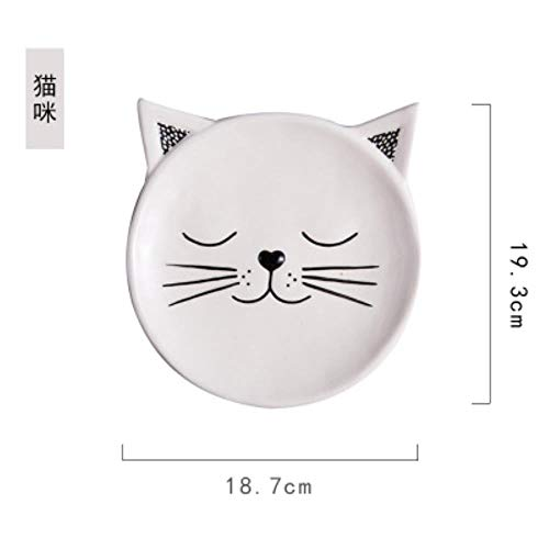 CYP Ceramic Dishes Home Children's Breakfast Plates Creative Cute Pastries Fruit Cards Whole Animal Dishes,B