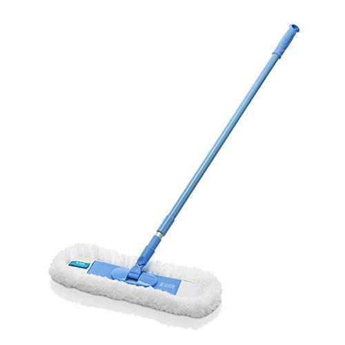 E-Cloth Flexi Edge Floor & Wall Duster, Polyester, Blue & White, 1 Pack