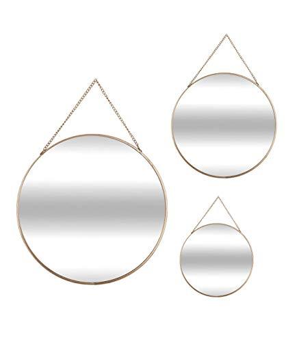 AC-Déco Specchio Rotondo–Confezione da 3–Giallo