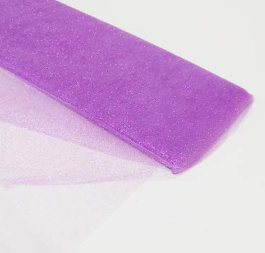 54' by 10 Yards (30 ft) Glitter Fabric Tulle Bolt for Wedding and Decoration (Lavender)