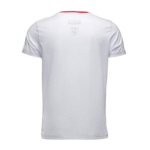 FCA Abarth Camiseta de Color Blanco con Cuello Redondo Rojo y ...