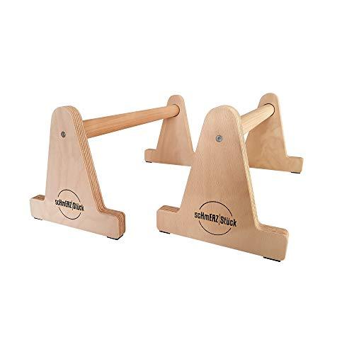 scHmERZ Stück Premium Holz Parallettes medium