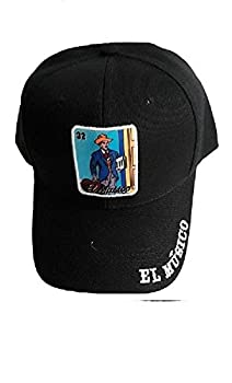 El Musico Loteria Baseball Caps Mexican Baseball Caps Hats Embroidered Black