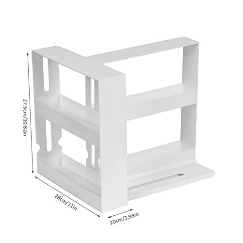 HAINIWER Herausziehbares Gewürzregal 2-stufiges, drehbares Gewürzregal Multifunktions-Aufbewahrungsregal Gewürzglasregal zum Würzen, Küchenorganisator für zu Hause