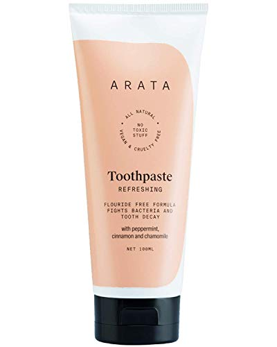 Dharma Arata Zero Chemicals Natural Fluoride/Sulphate and Paraben-Free Refreshing Toothpaste with Peppermint, Cinnamon and Chamomile and (100 ml)