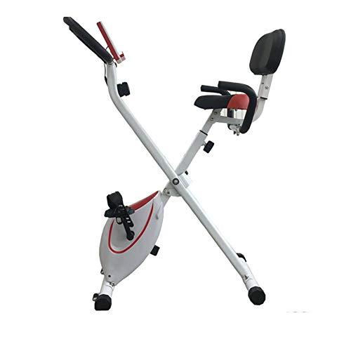 Bicicleta y Ejercicio en Bicicleta Moto, Bicicleta estática Ajustable Profesional con Pantalla LCD, Equipamiento Deportivo, Ideal Cardio Trainer