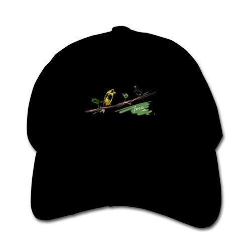 American Goldfinch Junco - Gorra de béisbol para niños, transpirable, color negro