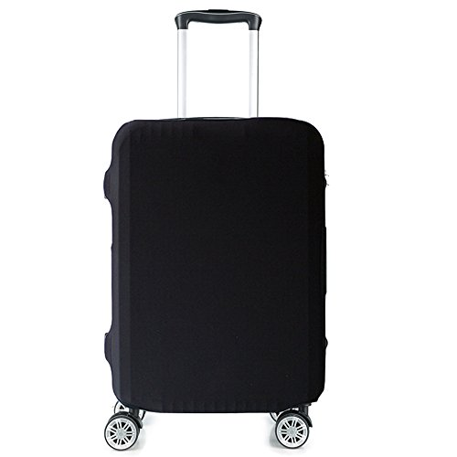 HoJax Spandex Travel Luggage Cover, Suitcase Protector Bag Fits 19-21 Inch Luggage Black