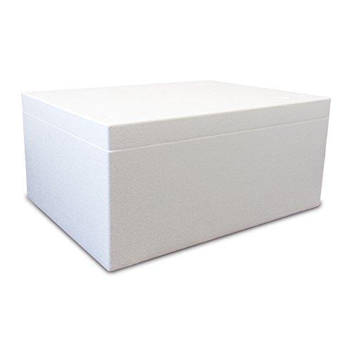 Styroporbox/Thermobox - 75,0 Liter - 79,0 x 59,0 x 36,0 cm/Wandstärke 6 cm - Styrobox