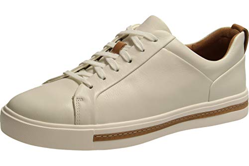 Clarks Damen Un Maui Lace Sneaker, Weiß (White Leather), 39.5 EU