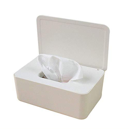 Reuvv Gewebe Aufbewahrung Box Hülle Feuchttücher Spender Halter Gewebe Schutzhülle Windel Duty Organizer mit Deckel für Heim Büro Verwendung