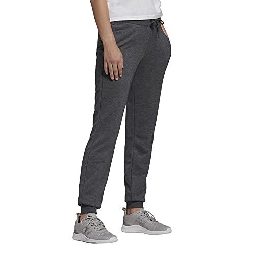 adidas Essentials French Terry Logo, Pantaloni della Tuta Donna, Scuro Grigio Melange/Colore Rosa Chiaro, S