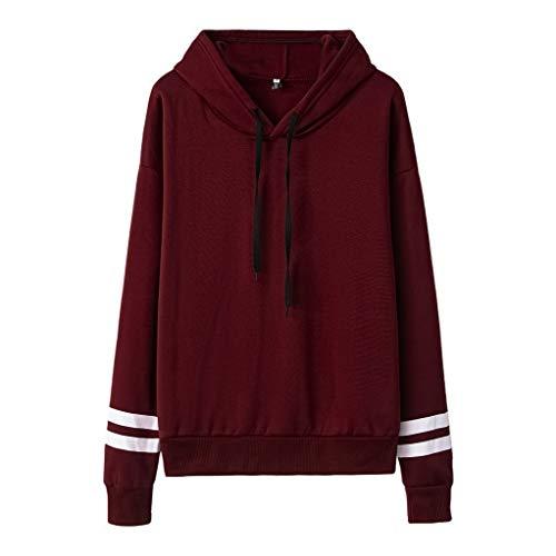 HOTHONG Sweat à Capuche Femme Sweatshirt Hoodies Pull Shirt Streetwear à Manches Blouse Grande Taille Veste de Sport avec Poches Longues Tops