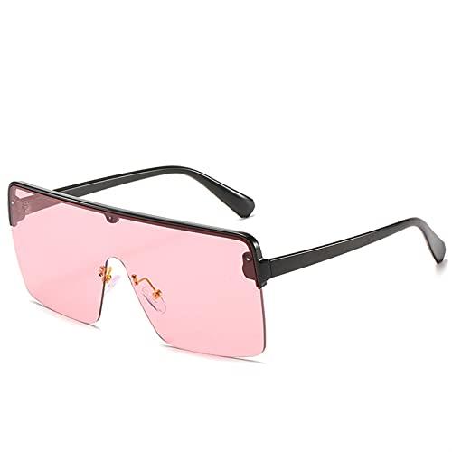 YSJJXTB Gafas de Sol Gafas de Sol para Las Mujeres Gafas cuadradas de Gran tamaño Mujer de Plata Espejo Azul Lentes Reflectantes Lentes de Sol Gafas Retro Vintage Grande Marco (Lenses Color : C4)
