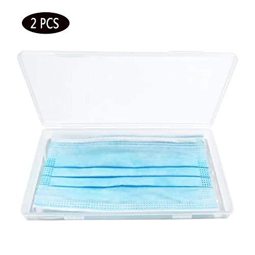 Masker Storage Bag, medisch Beauty stofmasker Storage Box, Plastic Seal Box Case, Environmental Protection, gemakkelijk schoon te maken,2 PCS