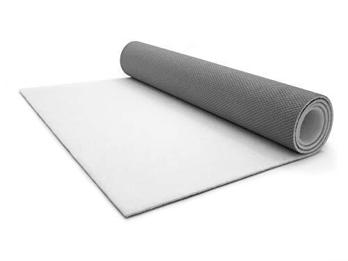 Rutschfester Eventteppich SALSA - 1,00m x 10,00m Weiß Hochzeitsläufer Hochzeitsteppich VIP-Teppich Schwer Entflammbarer Teppichläufer Empfangsteppich