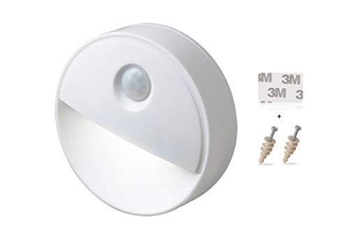 Lámparas de noche con detector de movimiento, lámpara de armario LED, sensor de luminosidad en oscuridad para baño, cocina, pasillo, armario, escalera, ropero.