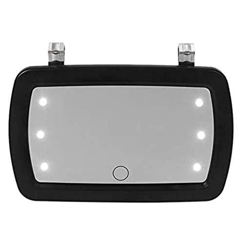 WlP Espejo con Visera Solar para Automóvil con 6 Luces LED Maquillaje Sombreado Solar Cosmético Espejo HD Pantalla Táctil Espejo De Vanidad Espejo De Maquillaje para Automóvil Estilo De Automóvil