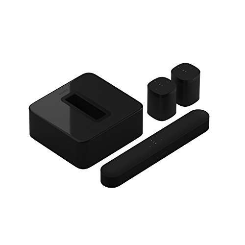 Sonos Beam WLAN Soundbar Speaker | Heimkinoset (5.1 | Beam + Sub + 2x One, schwarz)