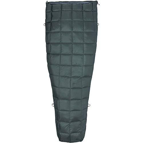 Marmot Micron 50 Long Sac de Couchage Mixte Adulte, Crocodile/Grey Storm, FR Unique (Taille Fabricant : 198 cm)