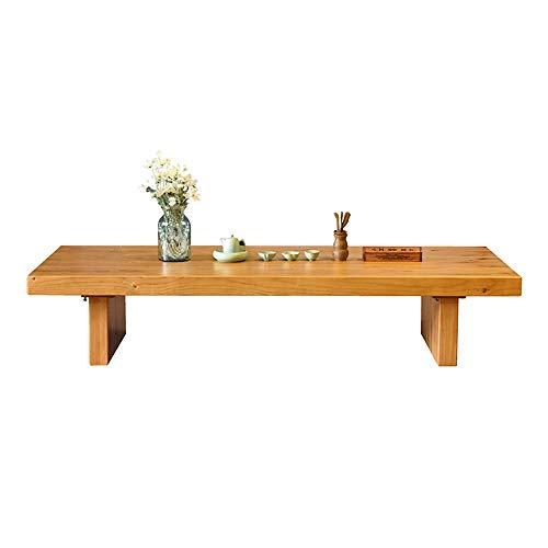 Mesa de Centro Tatami Simple de madera maciza mesa de centro clásica caligrafía Pintura Mesa Baja Apartamento pequeño tatami Bay Tabla de té ventana para Salón ( Color : Natural , Size : 120x60x35cm )