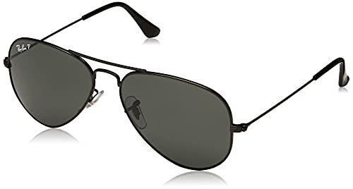 Ray-Ban Aviator Gafas de sol, Black, 55 para Hombre