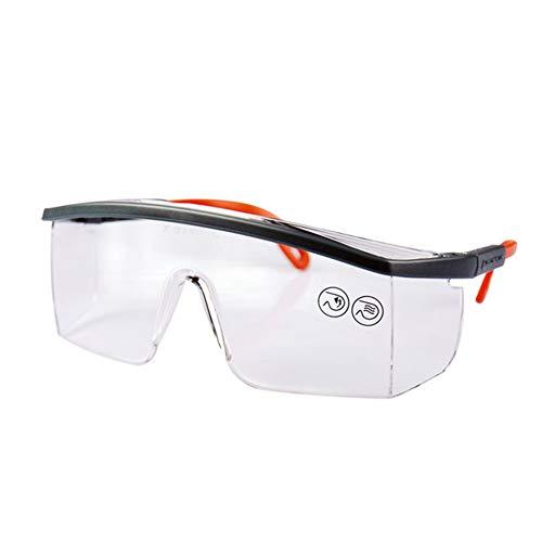 Wandspiegel Schutzbrille Clear Anti-Fog-Brille Anti-Shock Anti-Scratch Anti-Wind UV-Schutz für Heimwerker, Labor, Schweißen