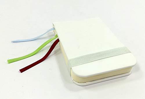 Taccuino appunti verticale 9,5x14 cm con elastico e fettucce di raso in tre colori differenti - sketchbook otebook - Paper-O - TACBE01