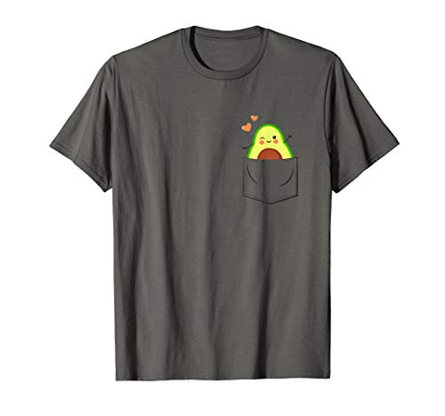 Avocado in Brusttasche - Veganer Vegetarier Humor Avocado T-Shirt