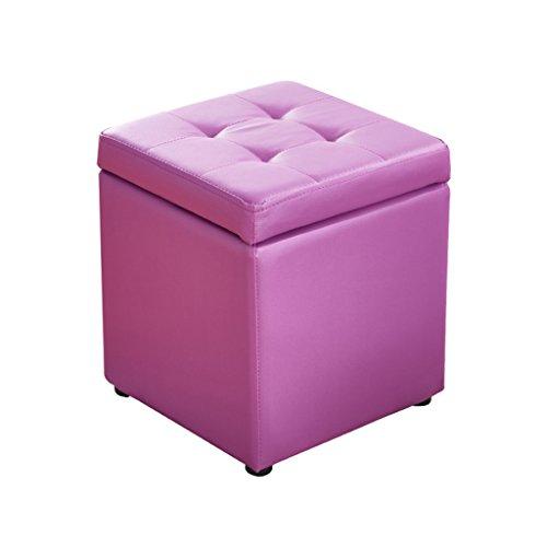 Poufs et repose-pieds Tabouret de rangement pliant multifonctionnel Tabouret de pique-nique portatif tabouret en bois (Couleur : Purple)