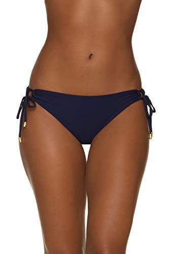 Helen Jon Women's Tunnel Side Tie Swimwear Hipster Navy