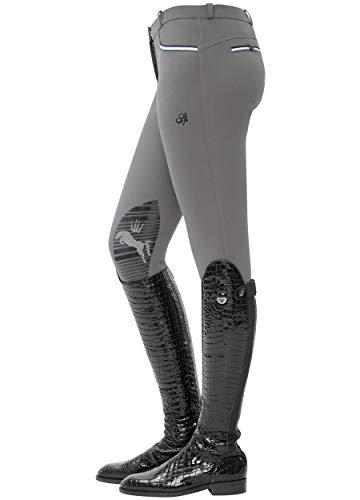 SPOOKS Damen Reithose Kniebesatz, Damenreithose Reithosen Turnierreithose Kniebesatzreithose Reiterhosen - Ricarda Knee Grip, Stone M