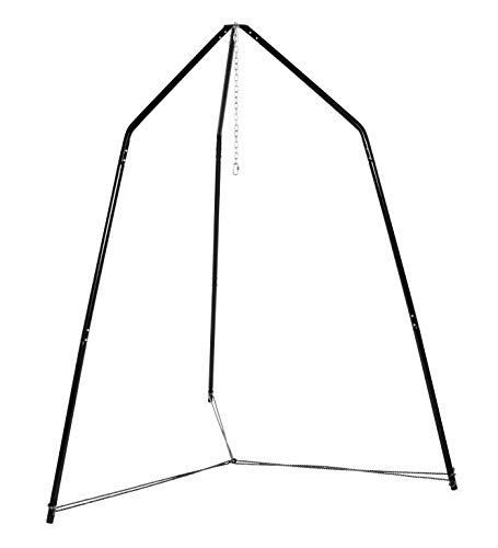HearthSong Family HugglePod Hangout Stand for Hanging Chairs and Play Tents, Includes Hanging Hardware, 8¾'L x 8¾'W x 8'H, Holds Up to 500 Lbs.