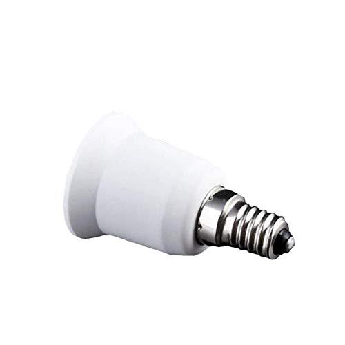 Rrunzfon E14 a E27 LED Zócalo de lámpara de luz Accesorios de iluminación de la lámpara Base del zócalo del convertidor del Adaptador del Casquillo Edison Tornillo Inicio