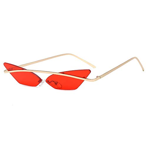 Damen Sonnenbrille Trend Sonnenbrille Sommer Sonnencreme Sonnenbrille Cat Eye Sonnenbrille Herren Anti-UV Sonnenbrille Blackout Brille-Rote Tabletten