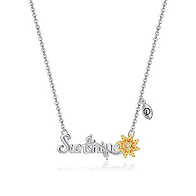 You are My Sunshine Necklace, 18k Gold Plated S...