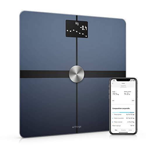 Withings Body+ - Balance Connectée WiFi et Bluetooth avec Analyse de la Composition Corporelle...