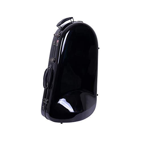 Crossrock Euphonium Case, Fiberglass Hardshell With Backpack Straps, Black (CRF1000EUHDBK)