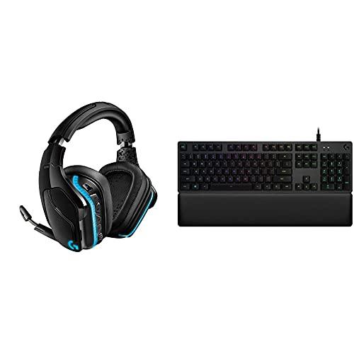 Logitech G935 Cuffie Gaming RGB Wireless + Logitech G513 Tastiera Gaming Cablata Meccanica con Poggiapolsi