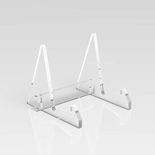 Acryl-Kunststoff-Staffelei dekorativer Tellerständer Halter Bilderrahmen Staffelei Display Ständer (transparent)