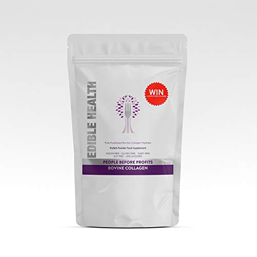 Premium Bovine Collagen Powder. 13,000mg, 116p per Day, 13x Stronger Than Capsules + Liquids. Fast Acting Hydrolysed Protein Peptides from EU. 18 Aminos. Paleo, Keto, Kosher, Halal. 7 Day, 100g Trial