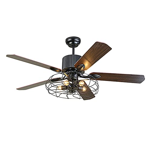 Heating Pads Ventilador De Techo con Luz con 65 W,Silenciosa,5 Aspas De Madera,6 Velocidades,Ultrasilencioso,68''De DiáMetro,Ceiling Fans FuncióN Invierno,Brown,68inch