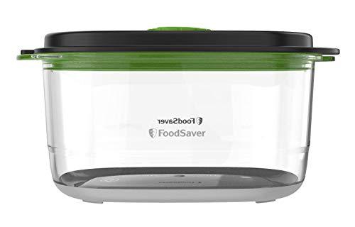 Foodsaver FFC022x Recipiente de envasado al vacío de alimentos, Transparente/Negro