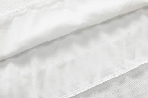 NASHALYLY Gonne Lunghe Eleganti in Chiffon, Donna Stretch Alta Vita Svasato Plissettato Lungo Gonna Puro Colore Semplici Gonne Casual(Nero,M) …