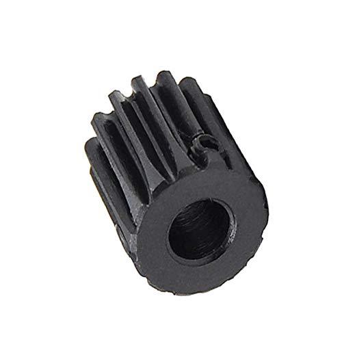 Mineur 1/2/5/10 / 20PCS 1M 12T Engrenage Droit Pignon Alésage 5mm Surface Noir Moteur Pignon denté 1 dent 12 Diamètre extérieur 14mm, 5mm, 12T (2PCS)