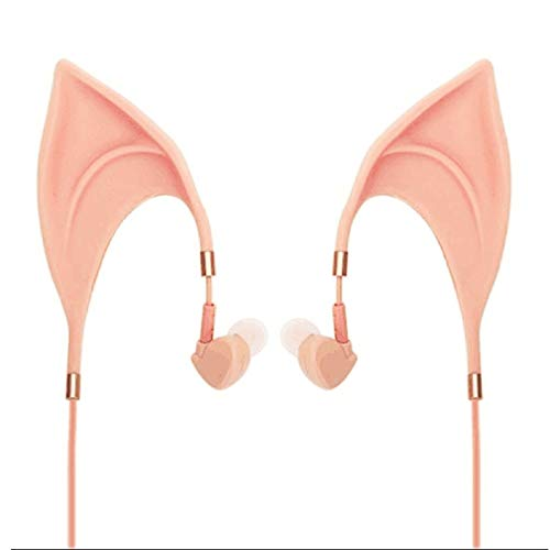 RHNE Lindo Auricular con Forma de Elfo Reducción de Ruido en los oídos Universal Cable para el oído Taza Color de la Piel