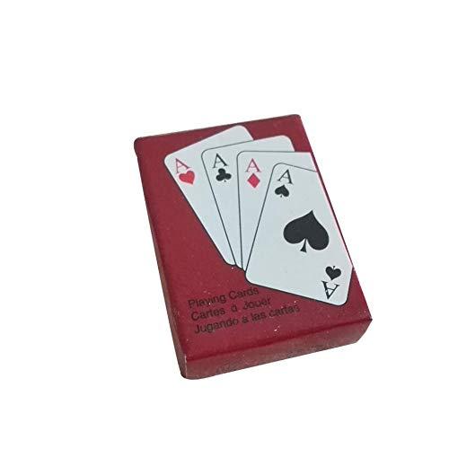 Feketeuki Jugar a Las Cartas de póker Mini póker portátil portátil Juego de Mesa de Naipes Interesante Fuera de al Aire Libre o Viajes Mini tamaño Pokers