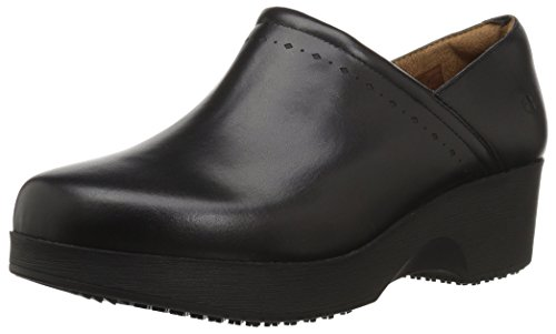 Shoes for Crews Women's Juno Slip Resistant Clog, Black, 6.5 Medium US