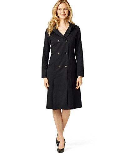 Pendleton Women's Seasonless Wool Florence Coat Dress - 04 Petite, Black