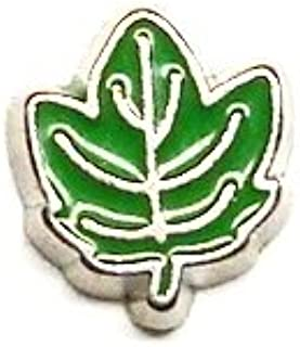 Cherityne Green Maple Leaf Floating Charm for Locket Pendants